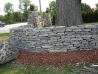 Dry Stack Stone Border Wall